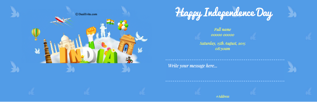 Free Independence Day Invitation Card Online Invitations