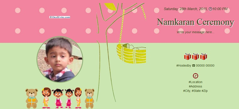 Free naming ceremony namakaran invitation card online invitations naming ceremony namakaran ideas more stopboris Gallery