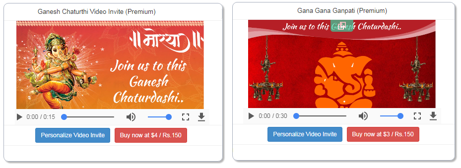 Free ganesh chaturthi invitation card online invitations how to create ganesh chaturthi invitation video stopboris Image collections