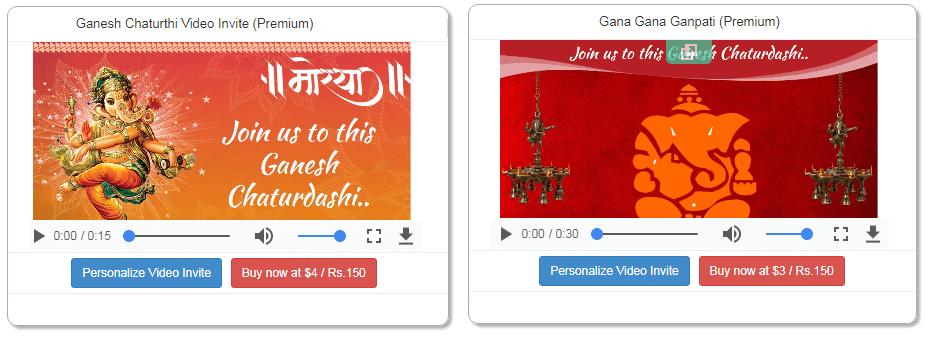 Free ganesh chaturthi invitation card online invitations how to create ganesh chaturthi invitation video stopboris Image collections