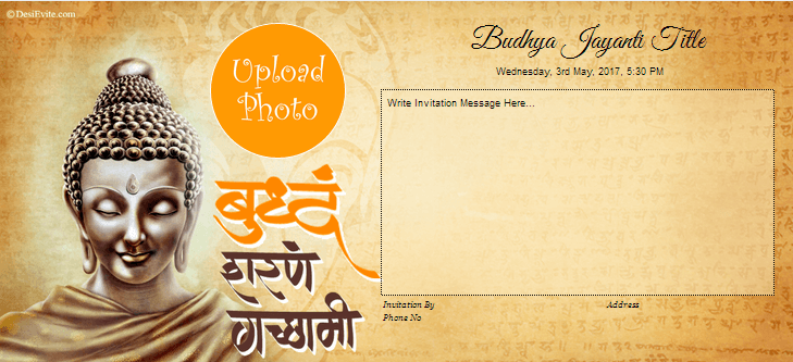 Free Buddha Jayanti Invitation Card Online Invitations
