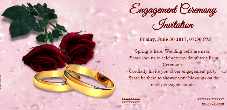 Free engagement invitation card video online invitations for Online engagement party invitations