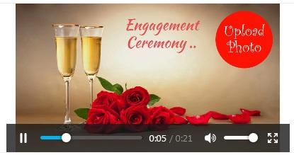 Free engagement invitation card video online invitations how to create engagement invitation video stopboris Gallery