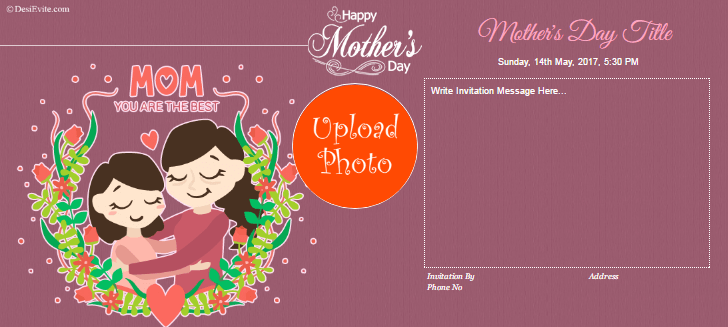 free mother day invitation card online invitations