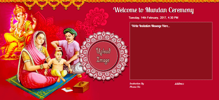 Free mundan invitation card online invitations mundan ideas more stopboris Gallery