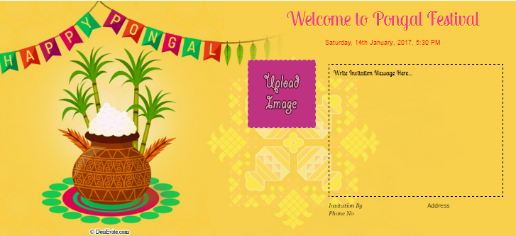 Free Pongal Invitation Card Online Invitations