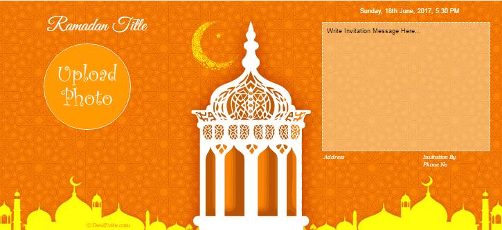 free ramadan invitation card  online invitations