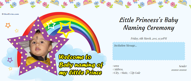 Free naming ceremony namakaran invitation card online invitations stopboris Image collections