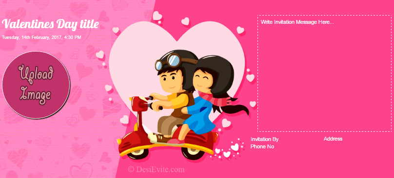 Free valentines day invitation card online invitations valentines day stopboris Image collections