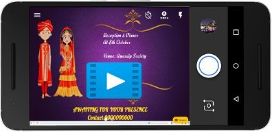 Free indian invitation cards video maker online invitations with wedding invitation video maker for whatsappfacebook rs 300 only stopboris Choice Image