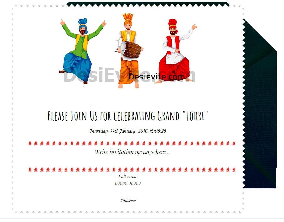 1st Lohri invitation card 44 free 110