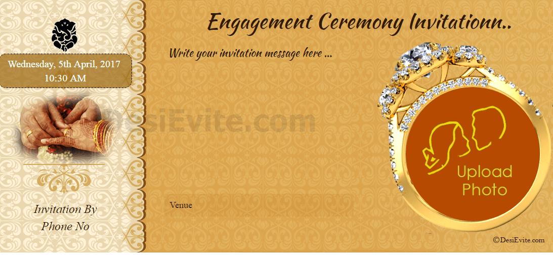 hindu engagement card