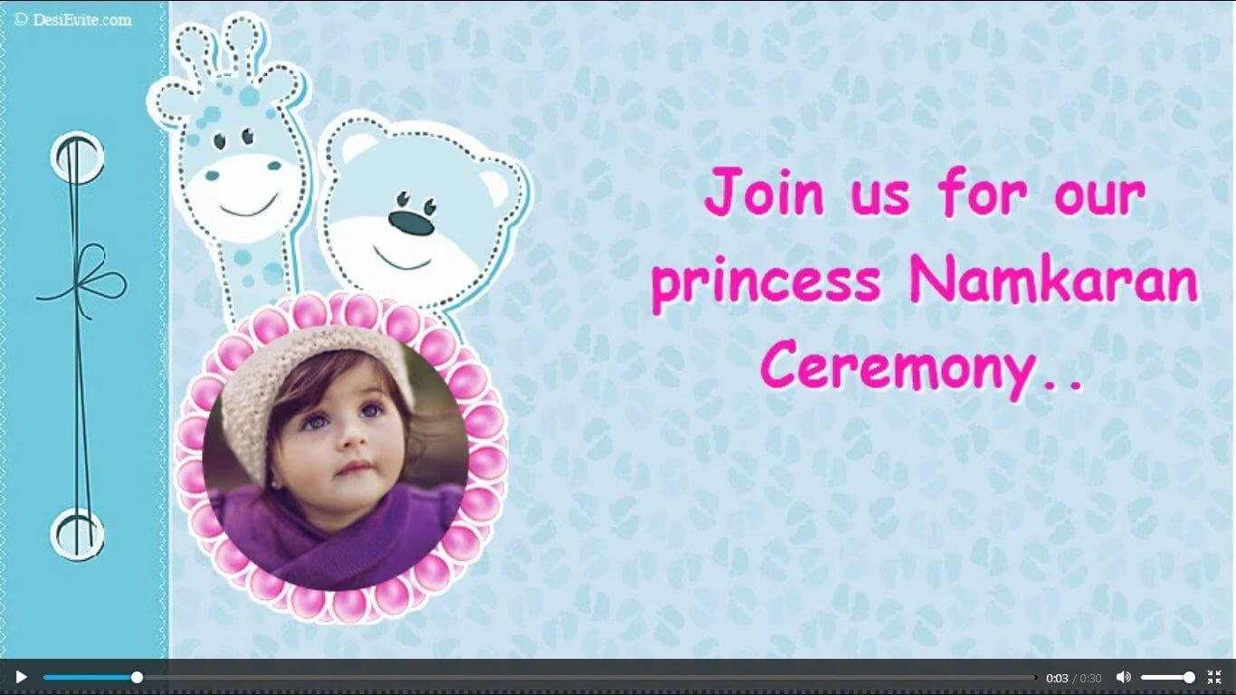 Namkaran Ceremony Video Invite poster image 114