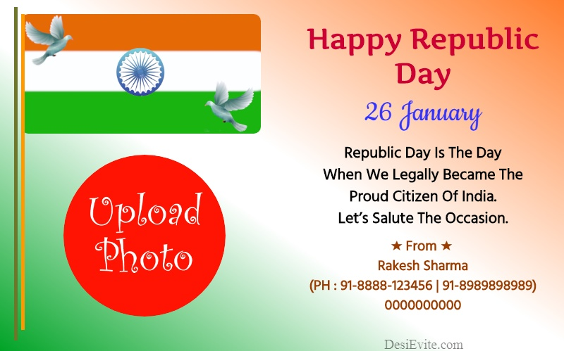 Republic Day Greeting Card Template 140