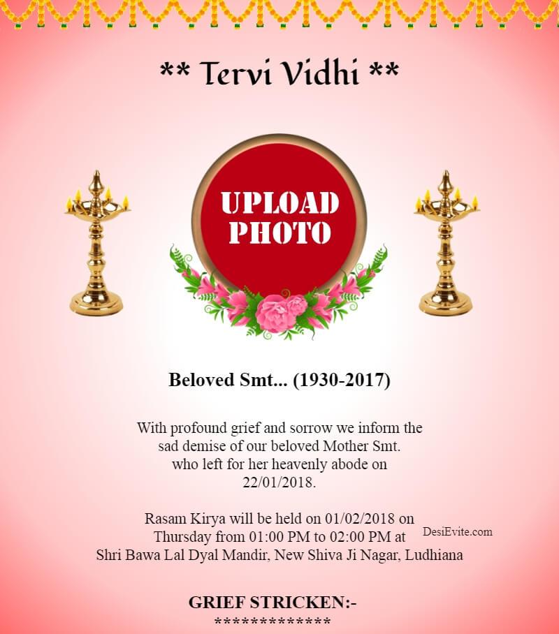 Tervi Vidhi/Varsh-shradh/Vaikunta Samaradhane