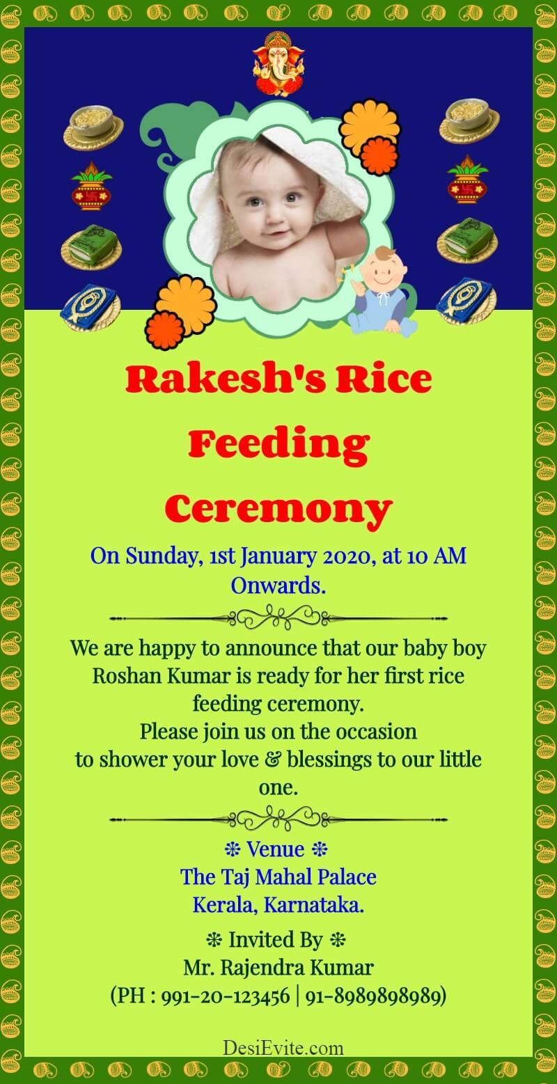 annaprashan invitation card template 121