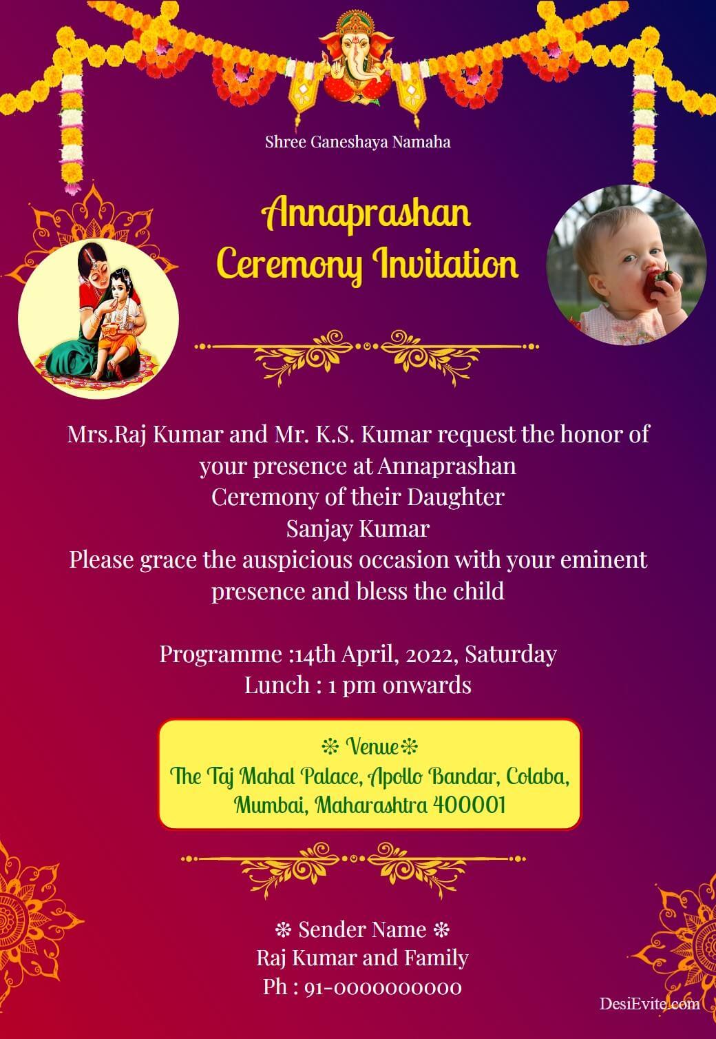 annaprashan sanskar 98