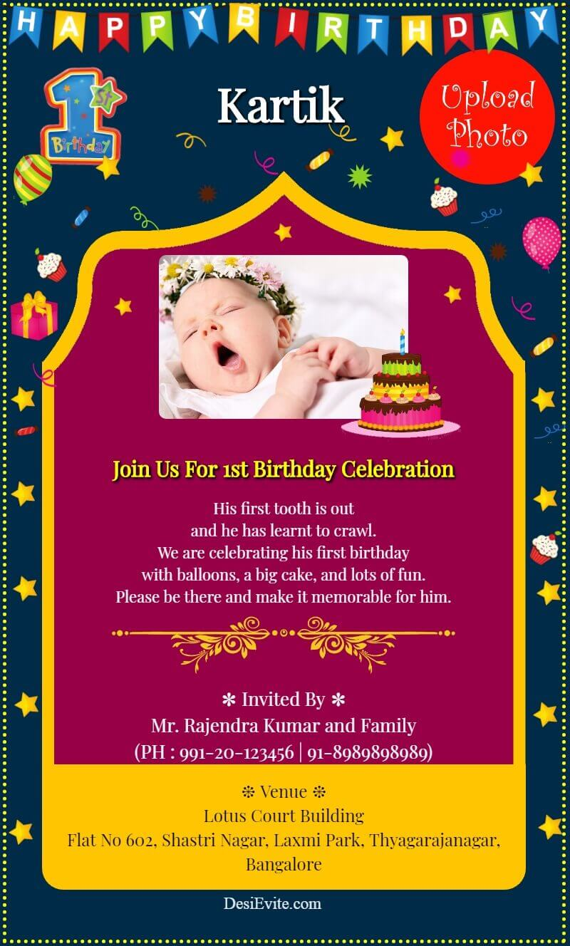 birthday card with option to change birthday number template 47