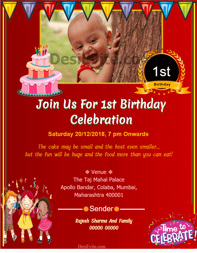 4st-Birthday-Invitation-Card-With-Photo