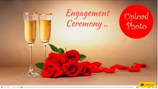 engagment invitation simple video poster image 166