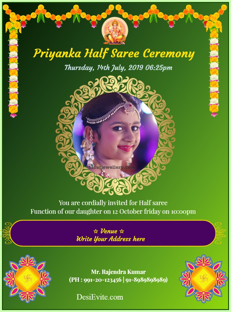 half saree function 115