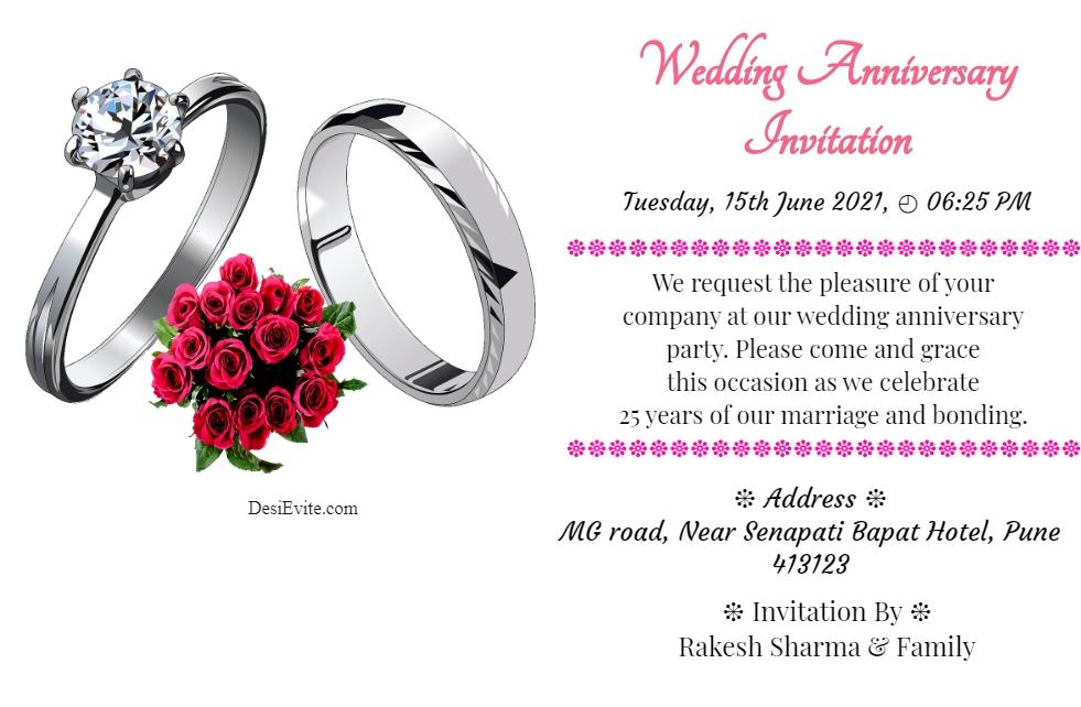 happy anniversary invitation ecard 40