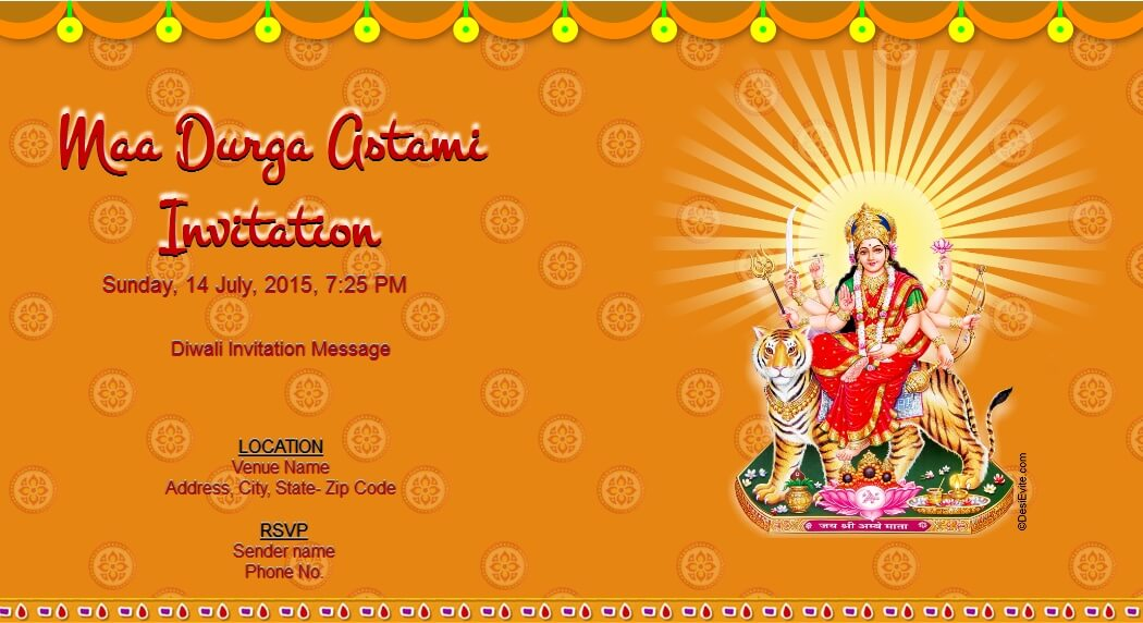 maa durga astami invitation 1 66