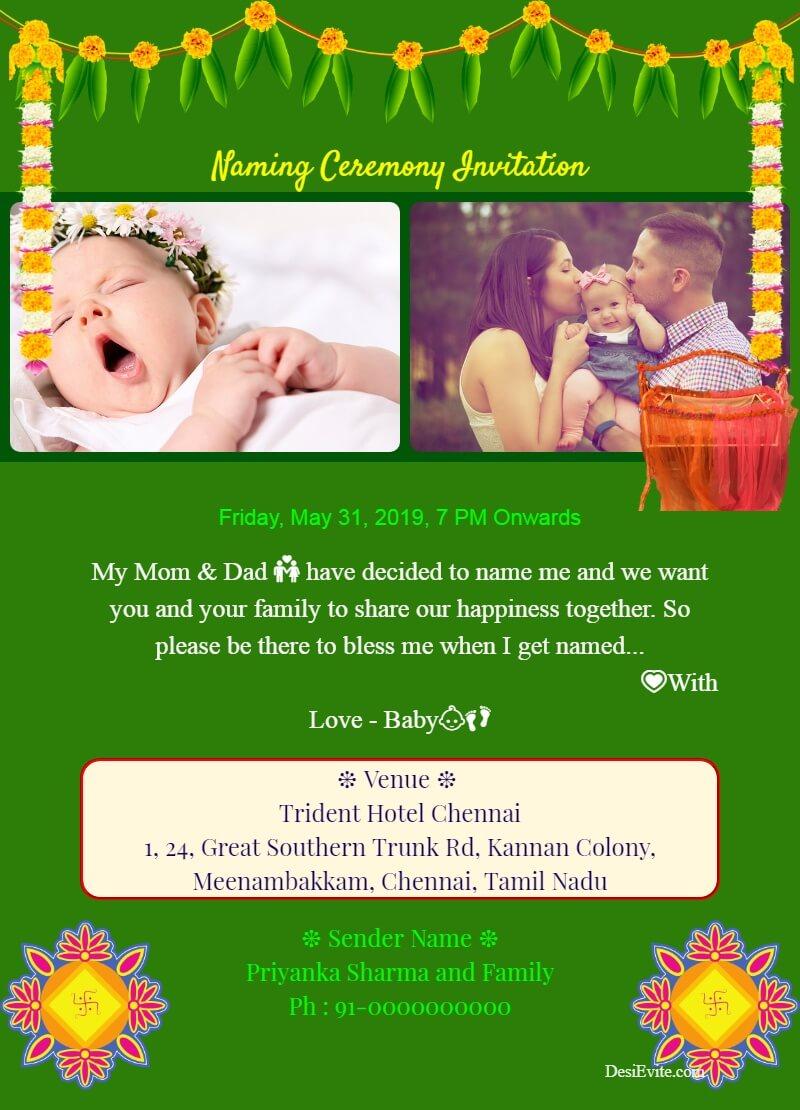 namkaran traditional invitation card template 101