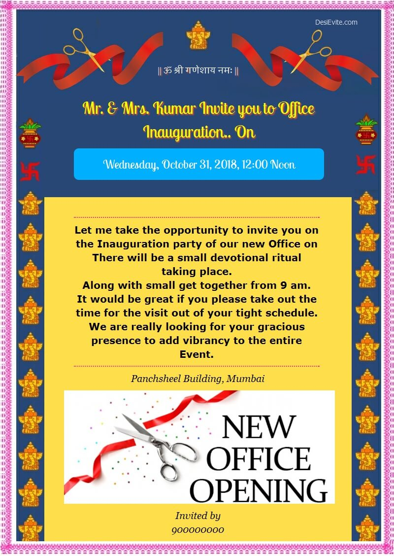 office opening ceremony card 47