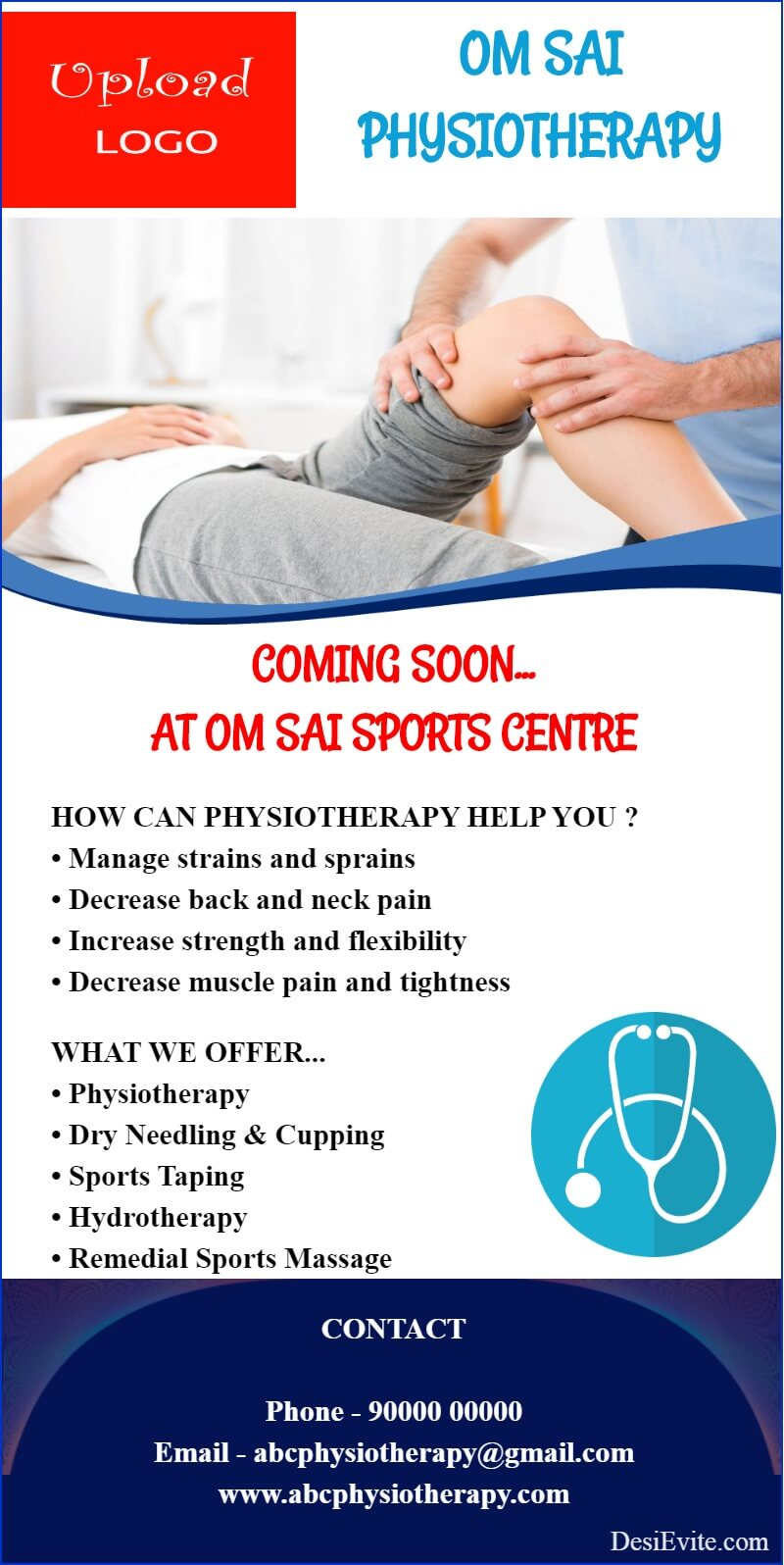 physiotherapy coming soon flyer brochure template 122