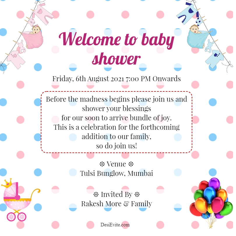 polka dots template for baby shower 102