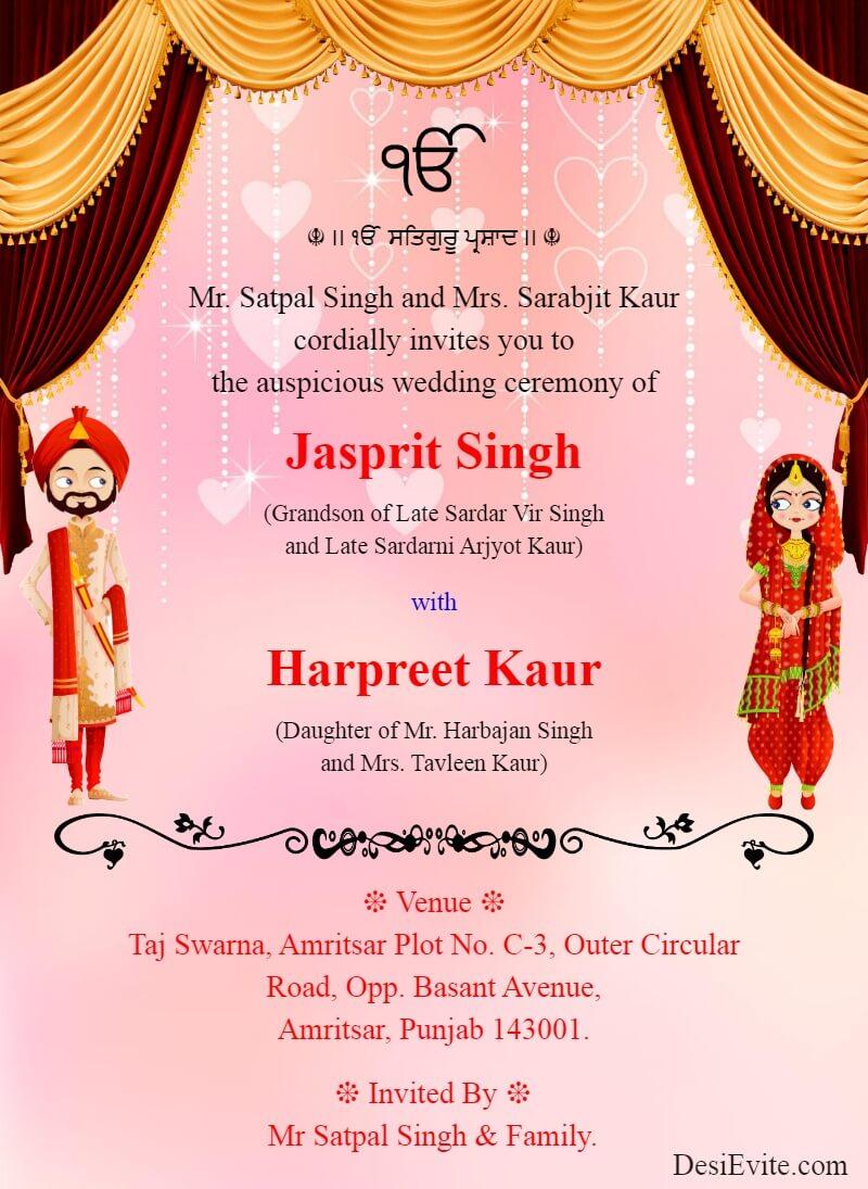 punjabi sikh wedding ecard with carry catcher template 145