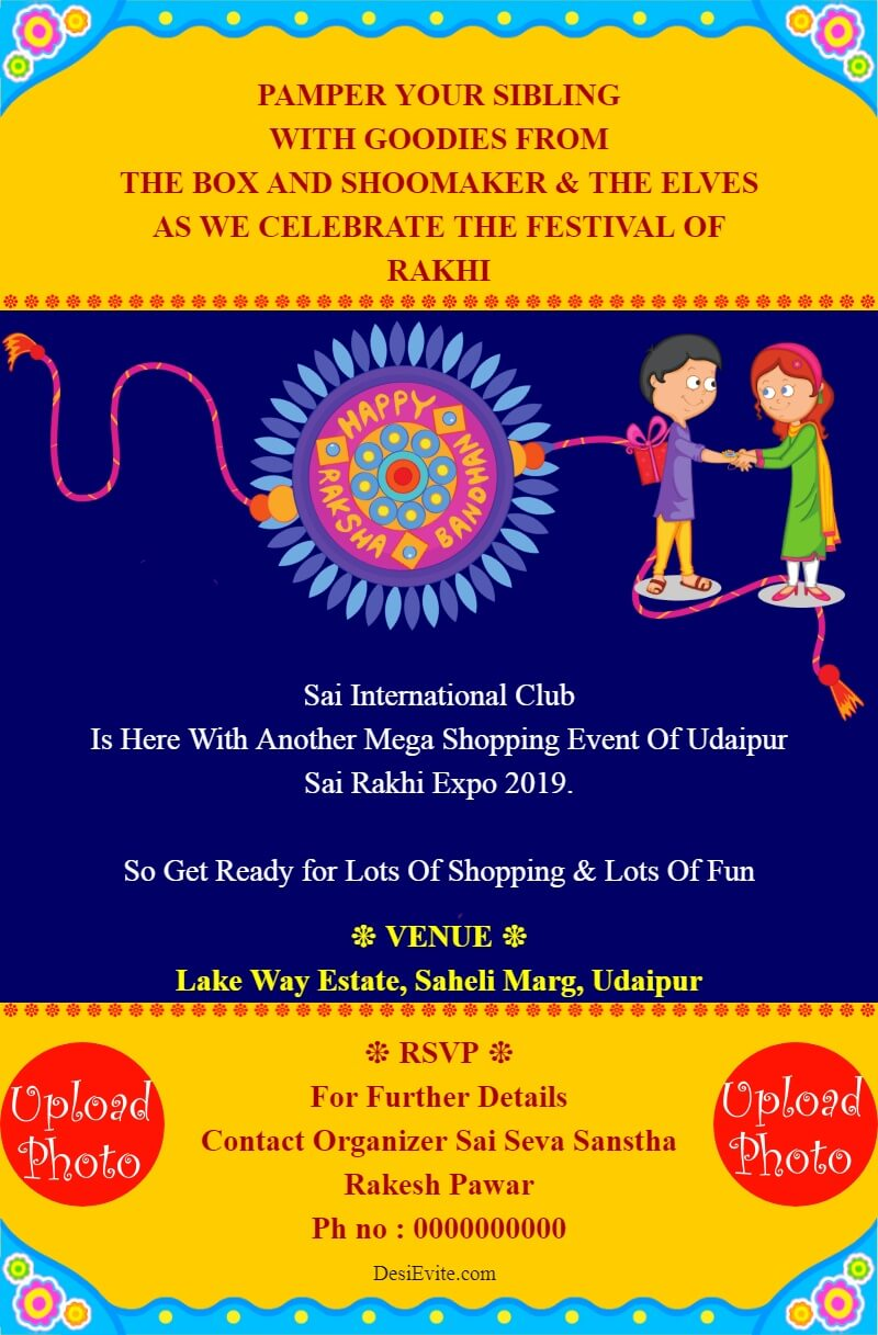 rakhi expo invitation card template 18