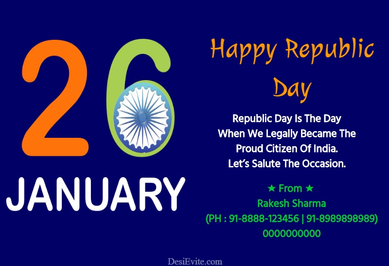 republic day greeting card india map template 171
