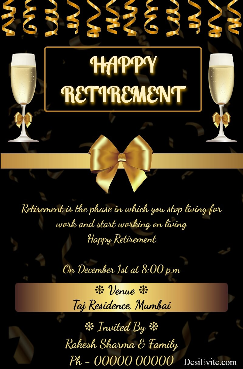 retirement party invitation ecard template 99