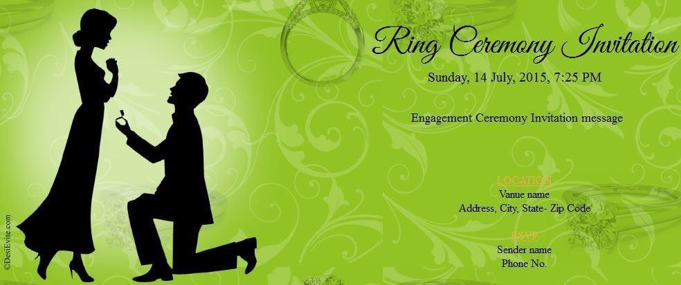 ring ceremony invitation 59 70