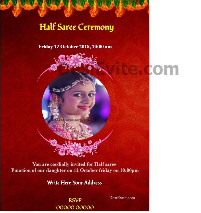 Half Saree Ceremony