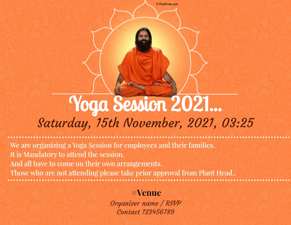 yoga session ramdev baba 48