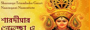 Multilingual Invitations Cards: Durga Puja