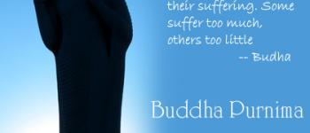 Some suffer too much other too little Budha Purnima ecards