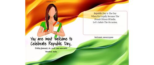 Welcome to Republic day function