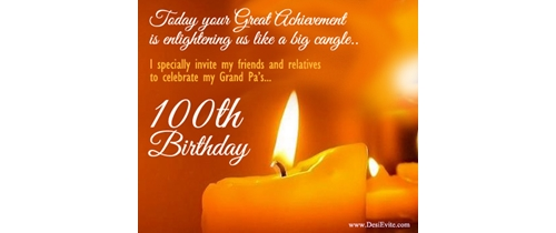 Great Achivments 100th Birthday Party Invitation