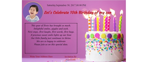 10th Birthday Celebration