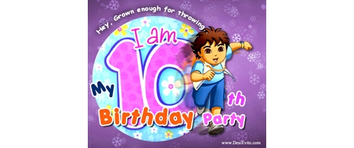 My 10th Birthday Party Invitation