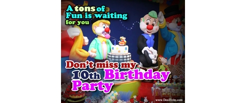Don't miss my 10th Birthday Party