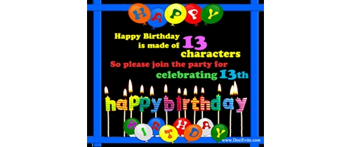Join the party for celebrating  13th Birthday Party