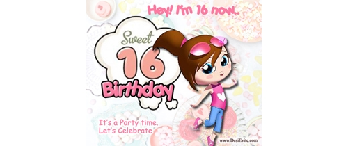 Sweet 16th Birthday Party Invitation