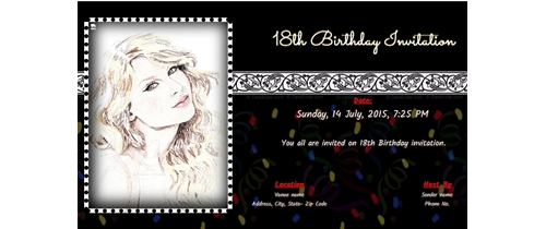 Sweet 16th birthday Invitation