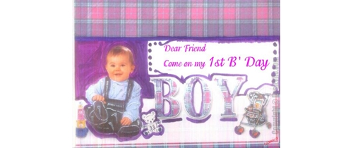 Dear friends come on my 1st Birthday party