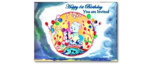 1st Birthday Invitation